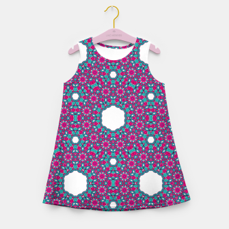 Thumbnail image of PINK AND PURPLE KALEIDOSCOPE Girl's Summer Dress, Live Heroes