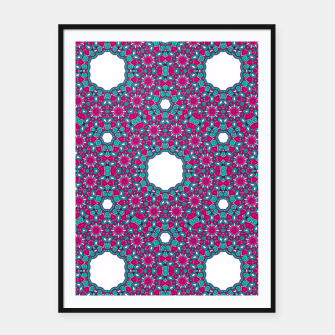Thumbnail image of PINK AND PURPLE KALEIDOSCOPE Framed poster, Live Heroes