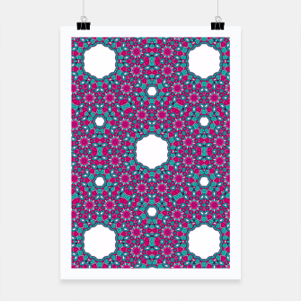 Thumbnail image of PINK AND PURPLE KALEIDOSCOPE Poster, Live Heroes