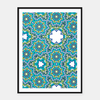 Thumbnail image of MANDALA PATTERN Framed poster, Live Heroes