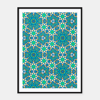 Thumbnail image of ABSTRACT PATTERN  Framed poster, Live Heroes