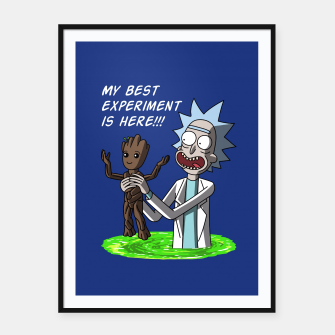 Thumbnail image of Best experiment Cartel con marco, Live Heroes
