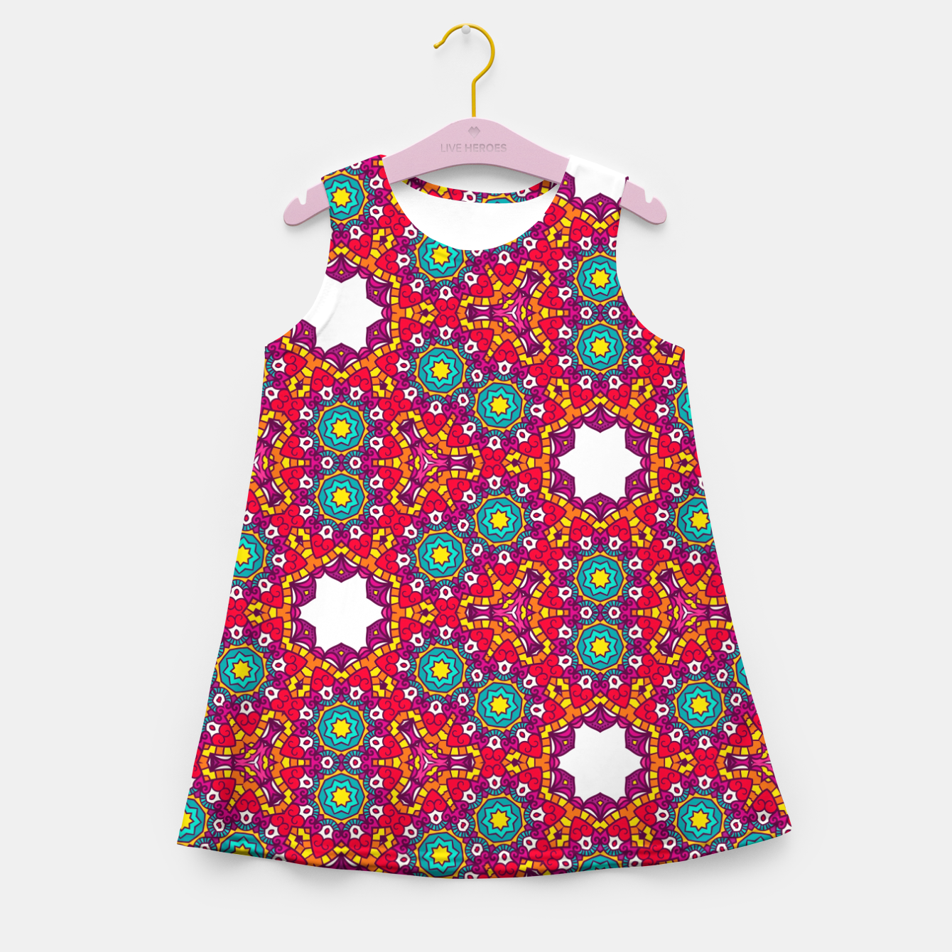 Image of ABSTRACT GEOMETRY PATTERN Girl's Summer Dress - Live Heroes