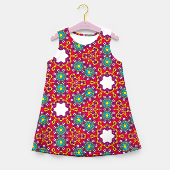 Thumbnail image of ABSTRACT GEOMETRY PATTERN Girl's Summer Dress, Live Heroes