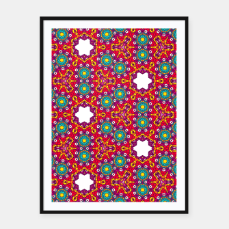 Thumbnail image of ABSTRACT GEOMETRY PATTERN Framed poster, Live Heroes