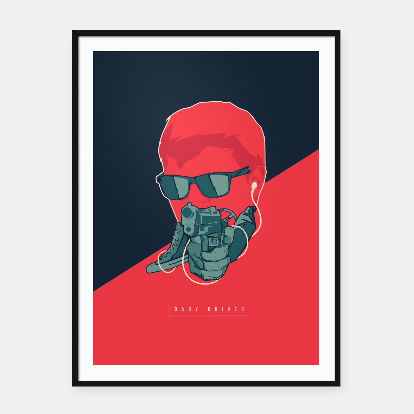 Image of Baby Driver Framed poster - Live Heroes