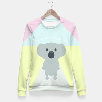 Thumbnail image of Spreading the Koala Hug Fitted Waist Sweater, Live Heroes