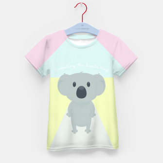 Thumbnail image of Spreading the Koala Hug Kid's T-shirt, Live Heroes