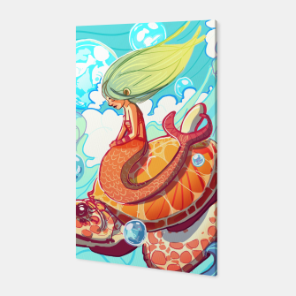 Thumbnail image of Mermaid with Turtle Canvas, Live Heroes