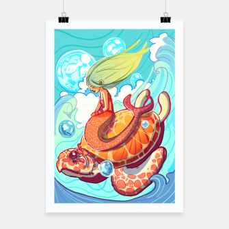 Miniature de image de Mermaid with Turtle Poster, Live Heroes