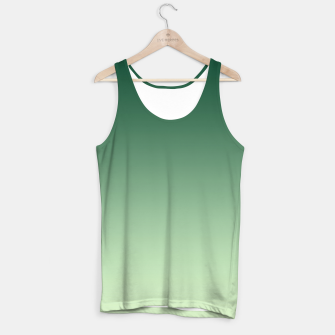 Miniaturka Ombre gradient green colors Tank Top, Live Heroes