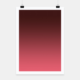 Miniaturka Ombre gradient red colors Poster, Live Heroes