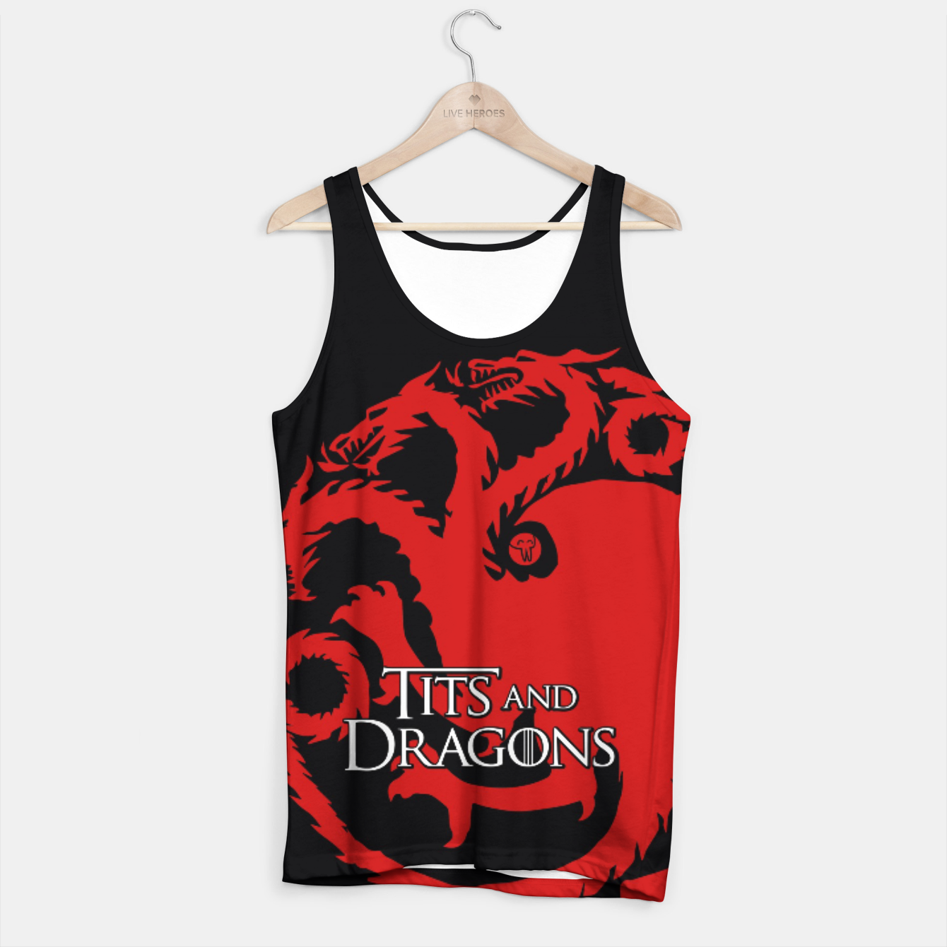Zdjęcie Game of Thrones - Tits and Dragons Tank Top - Live Heroes