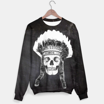 Thumbnail image of Skull headdress black Sweater, Live Heroes