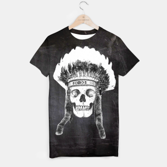 Thumbnail image of Skull headdress black T-shirt, Live Heroes