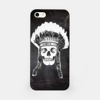 Miniaturka Skull headdress black iPhone Case, Live Heroes