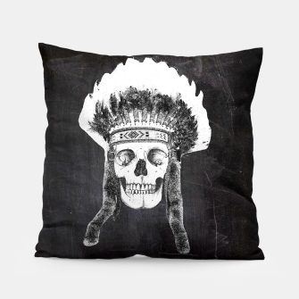 Miniatur Skull headdress black Pillow, Live Heroes