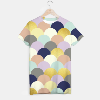 Thumbnail image of Fish scales pattern T-shirt, Live Heroes