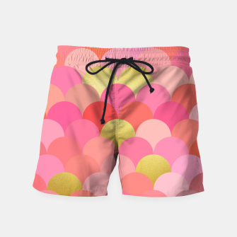 Thumbnail image of Fish scales pattern Swim Shorts, Live Heroes