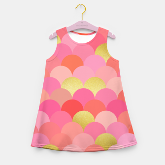 Thumbnail image of Fish scales pattern Girl's Summer Dress, Live Heroes