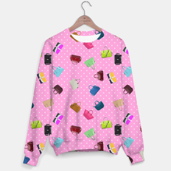 Thumbnail image of Purses, Polka Dots and Pink Background Sweater, Live Heroes