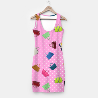 Thumbnail image of Purses, Polka Dots and Pink Background Simple Dress, Live Heroes