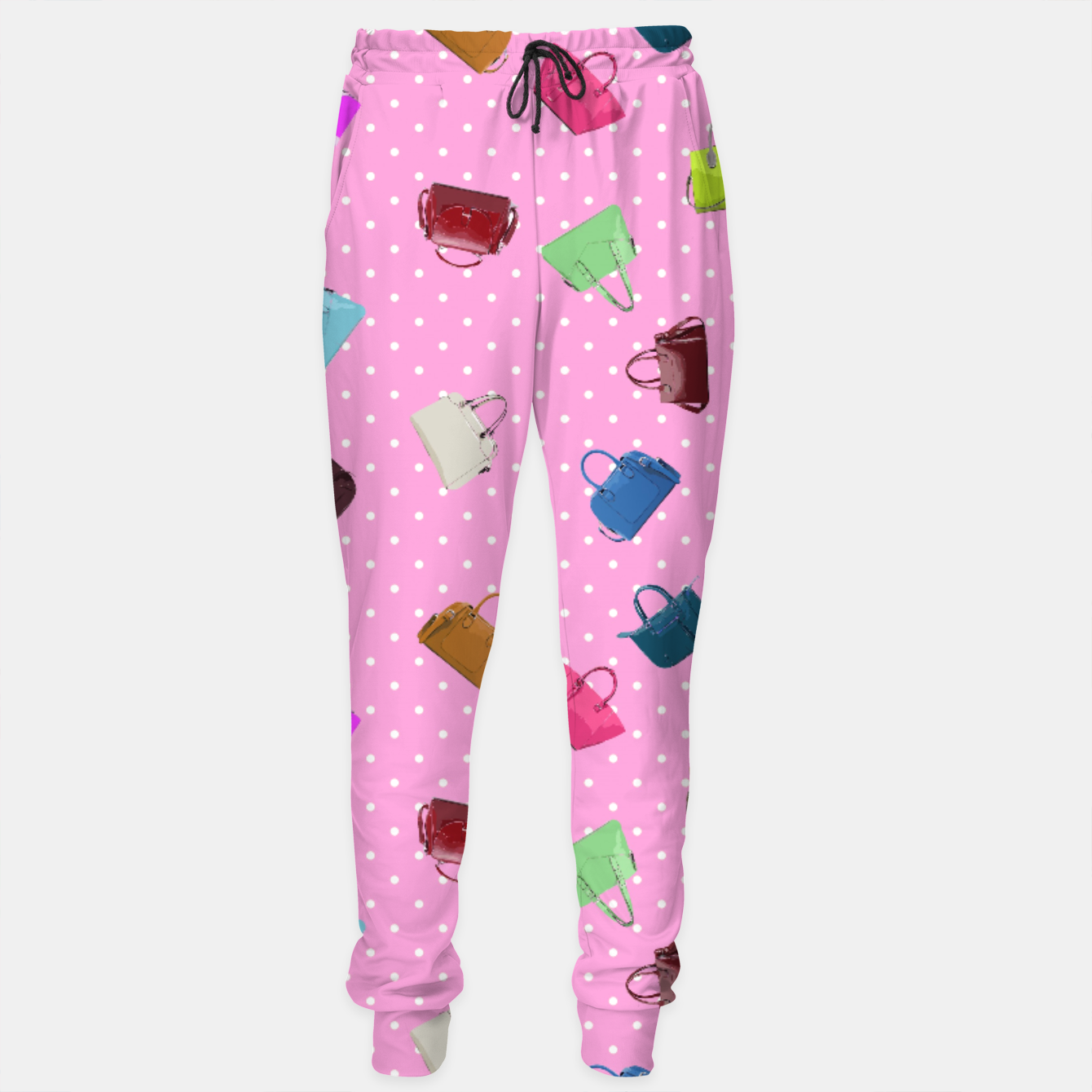 Image of Purses, Polka Dots and Pink Background Sweatpants - Live Heroes