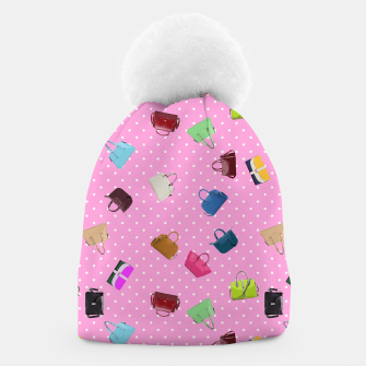 Purses, Polka Dots and Pink Background Beanie thumbnail image