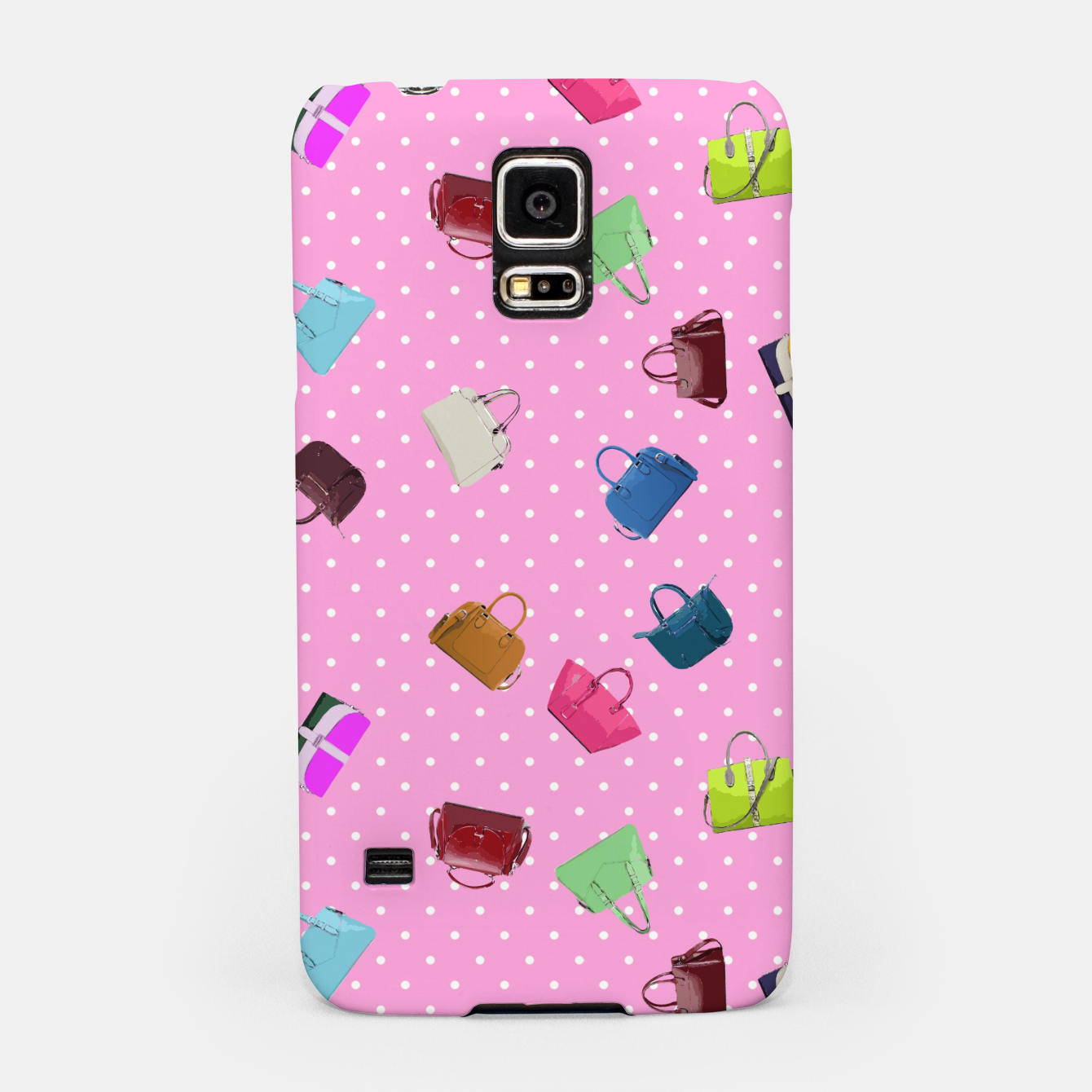 Image of Purses, Polka Dots and Pink Background Samsung Case - Live Heroes