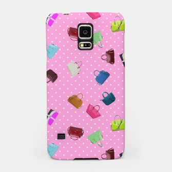 Purses, Polka Dots and Pink Background Samsung Case thumbnail image