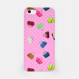 Purses, Polka Dots and Pink Background iPhone Case thumbnail image