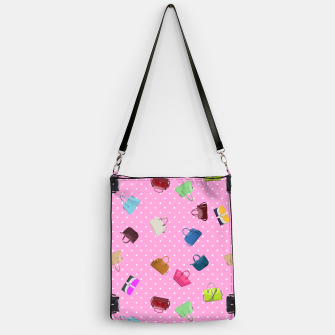 Purses, Polka Dots and Pink Background Handbag thumbnail image