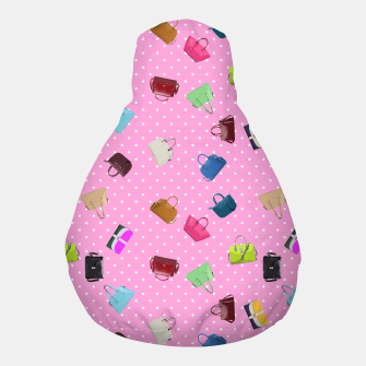 Thumbnail image of Purses, Polka Dots and Pink Background Pouf, Live Heroes