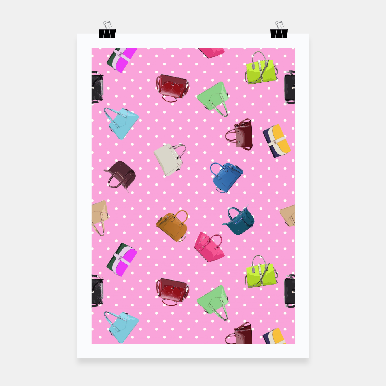 Image of Purses, Polka Dots and Pink Background Poster - Live Heroes