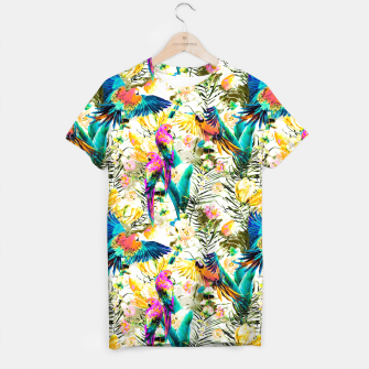 Imagen en miniatura de Jungle of fruit with tropical parrots Camiseta, Live Heroes
