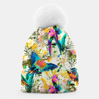 Jungle of fruit with tropical parrots Gorro thumbnail image