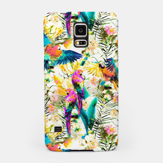 Jungle of fruit with tropical parrots Carcasa por Samsung thumbnail image