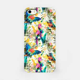 Jungle of fruit with tropical parrots Carcasa por Iphone thumbnail image