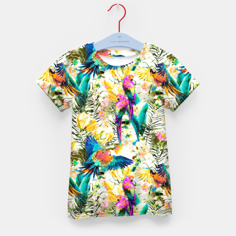 Jungle of fruit with tropical parrots Camiseta para niños thumbnail image