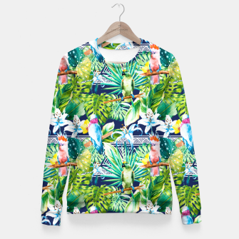 Miniatur Tribal Jungle of Birds Sudadera entallada, Live Heroes