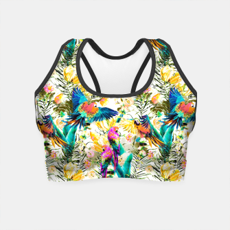 Miniature de image de Jungle of fruit with tropical parrots Crop Top, Live Heroes