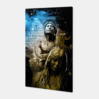 Thumbnail image of Native American Illustrated Canvas, Live Heroes