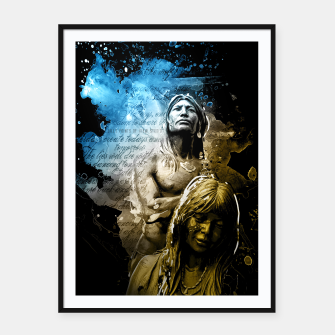 Thumbnail image of Native American Indian Framed Poster, Live Heroes