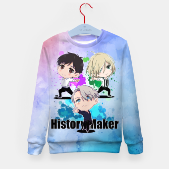 Thumbnail image of Yuri On Ice History Maker Kid's Sweater, Live Heroes