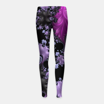 Thumbnail image of Midnight Frax  Girl's Leggings, Live Heroes