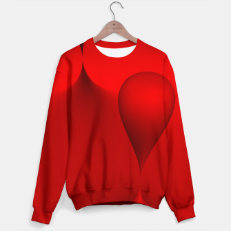 Thumbnail image of globby red Sweater, Live Heroes