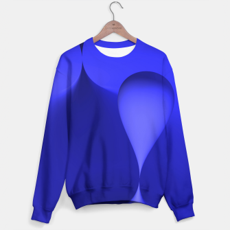 Thumbnail image of globby blue Sweater, Live Heroes