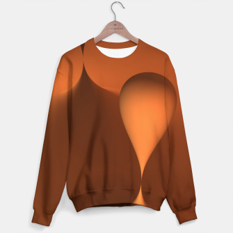 Thumbnail image of globby orange Sweater, Live Heroes
