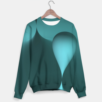 Thumbnail image of globby turquoise Sweater, Live Heroes