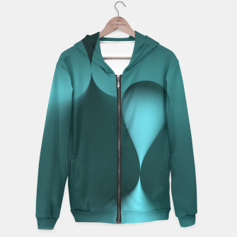 Thumbnail image of globby turquoise Hoodie, Live Heroes